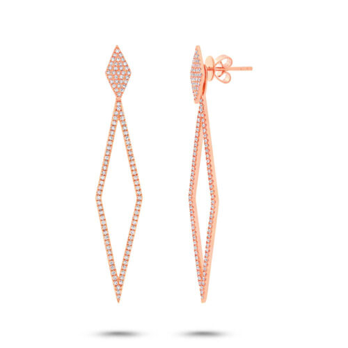 0.56ct 14k Rose Gold Diamond Ear Jacket Earring with Studs SC55002326 500x500 - 0.56ct 14k Rose Gold Diamond Ear Jacket Earring with Studs SC55002326