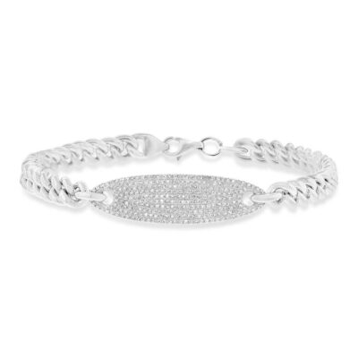 0.56ct 14k White Gold Diamond Pave Chain Bracelet SC55003511 400x400 - 0.56ct 14k White Gold Diamond Pave Chain Bracelet SC55003511