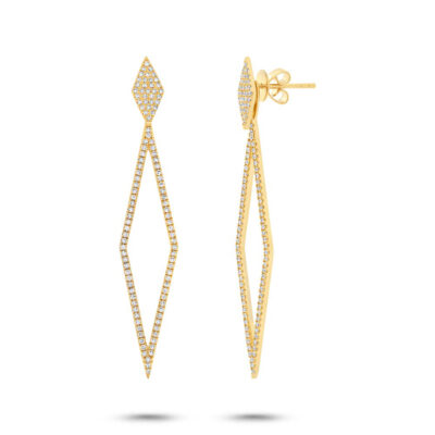 0.56ct 14k Yellow Gold Diamond Ear Jacket Earring with Studs SC55002325 400x400 - 0.56ct 14k Yellow Gold Diamond Ear Jacket Earring with Studs SC55002325