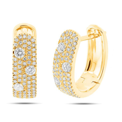 0.56ct 14k Yellow Gold Diamond Huggie Earring SC55004034 400x400 - 0.56ct 14k Yellow Gold Diamond Huggie Earring SC55004034