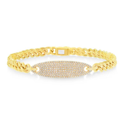 0.56ct 14k Yellow Gold Diamond Pave Chain Bracelet SC55003512 400x400 - 0.56ct 14k Yellow Gold Diamond Pave Chain Bracelet SC55003512