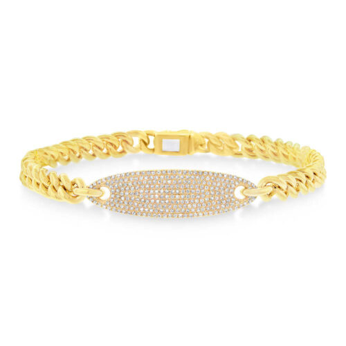 0.56ct 14k Yellow Gold Diamond Pave Chain Bracelet SC55003512 500x500 - 0.56ct 14k Yellow Gold Diamond Pave Chain Bracelet SC55003512