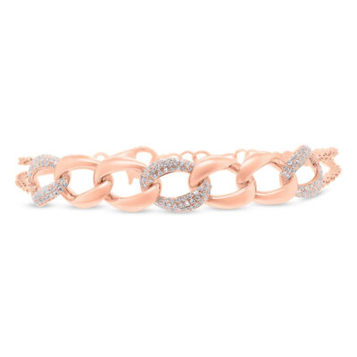 0.57ct 14k Rose Gold Diamond Pave Chain Bracelet SC55006924 400x400 - 0.57ct 14k Rose Gold Diamond Pave Chain Bracelet SC55006924