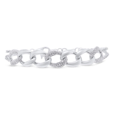 0.57ct 14k White Gold Diamond Pave Chain Bracelet SC55006922 400x400 - 0.57ct 14k White Gold Diamond Pave Chain Bracelet SC55006922