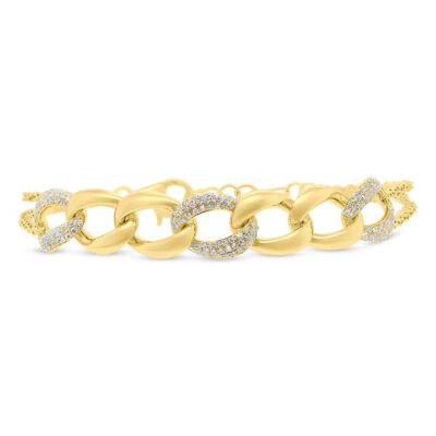 0.57ct 14k Yellow Gold Diamond Pave Chain Bracelet SC55006923 400x400 - 0.57ct 14k Yellow Gold Diamond Pave Chain Bracelet SC55006923