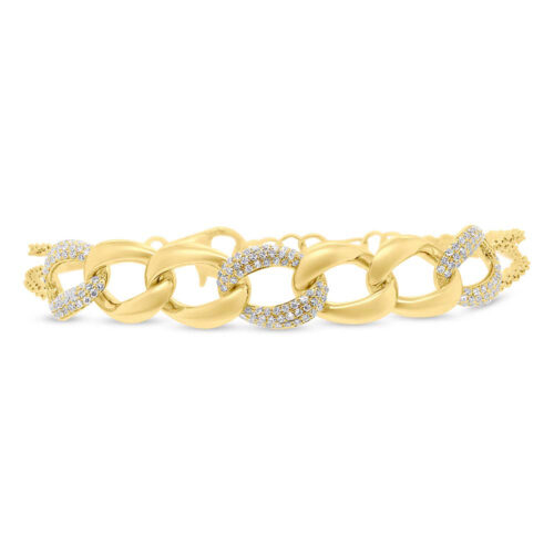 0.57ct 14k Yellow Gold Diamond Pave Chain Bracelet SC55006923 500x500 - 0.57ct 14k Yellow Gold Diamond Pave Chain Bracelet SC55006923