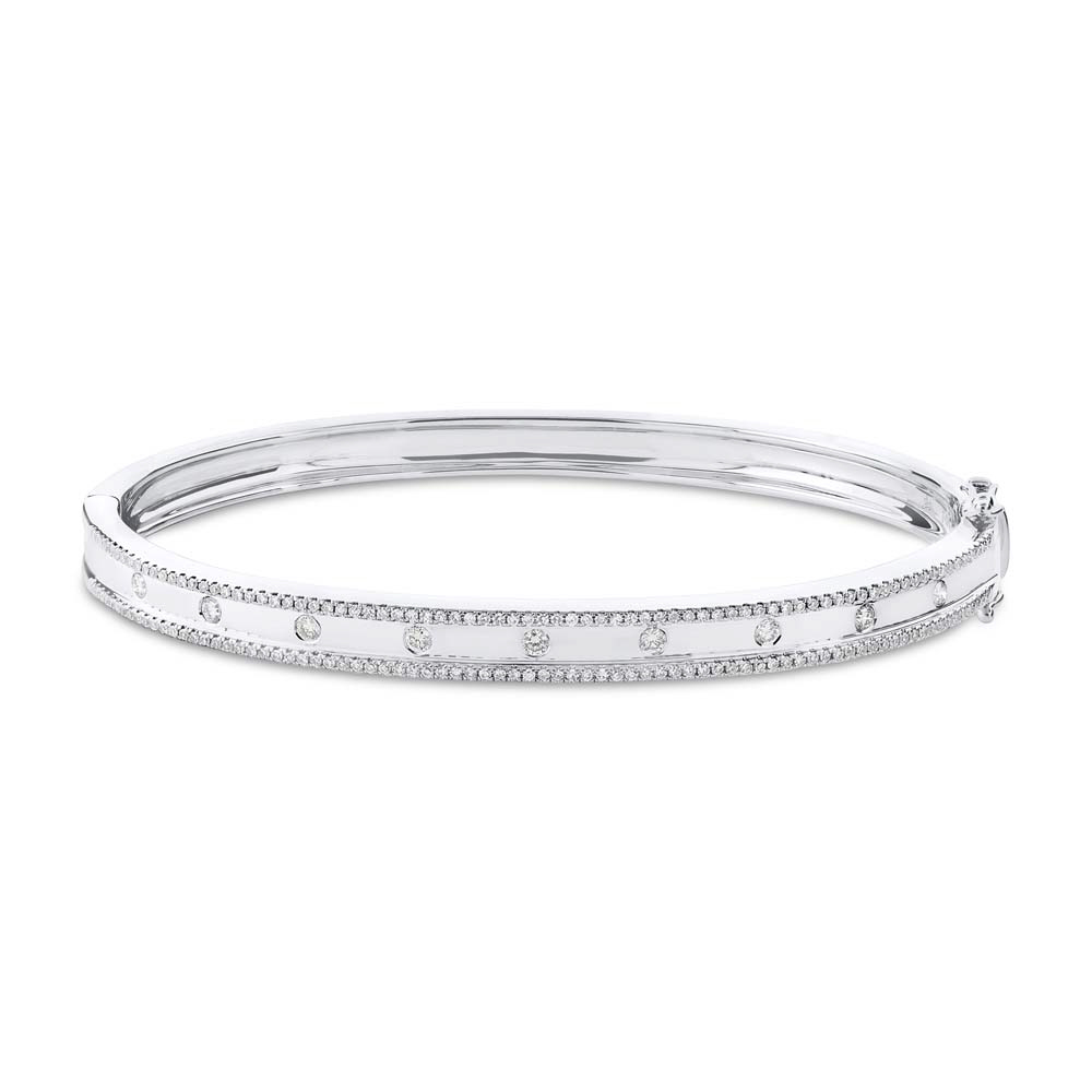 gold bangles cfm h white bangle si diamond item