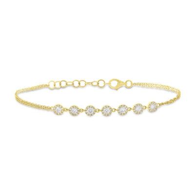 0.66ct 14k Yellow Gold Diamond Bracelet SC55004942 400x400 - 0.66ct 14k Yellow Gold Diamond Bracelet SC55004942