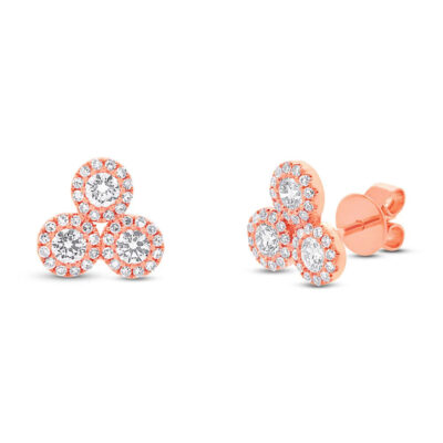 0.68ct 14k Rose Gold Diamond Earring SC55002293 400x400 - 0.68ct 14k Rose Gold Diamond Earring SC55002293