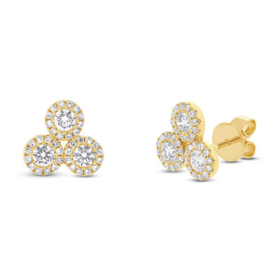 0.68ct 14k Yellow Gold Diamond Earring SC55002292 400x400 - 0.68ct 14k Yellow Gold Diamond Earring SC55002292
