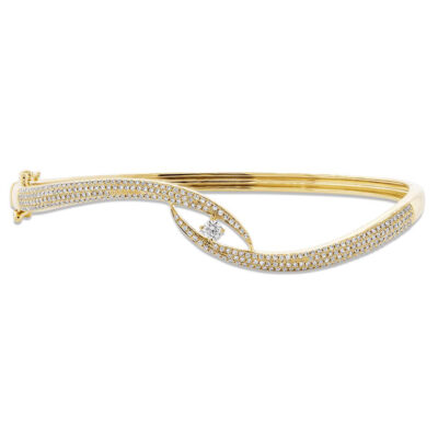 0.70ct 14k Yellow Gold Diamond Pave Bangle SC55004615ZS 400x400 - 0.70ct 14k Yellow Gold Diamond Pave Bangle SC55004615ZS
