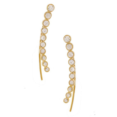0.75ct 14k Yellow Gold Diamond Ear Crawler Earring SC55001529 400x400 - 0.75ct 14k Yellow Gold Diamond Ear Crawler Earring SC55001529