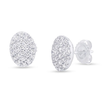 0.76ct 14k White Gold Diamond Pave Oval Earring SC22004731 400x400 - 0.76ct 14k White Gold Diamond Pave Oval Earring SC22004731