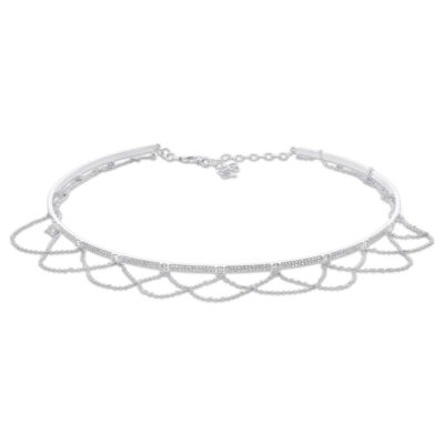 0.77ct 14k White Gold Diamond Choker Necklace SC55005025 400x400 - 0.77ct 14k White Gold Diamond Choker Necklace SC55005025