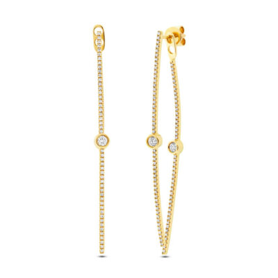 0.77ct 14k Yellow Gold Diamond Ear Jacket Earring SC55002402 400x400 - 0.77ct 14k Yellow Gold Diamond Ear Jacket Earring SC55002402