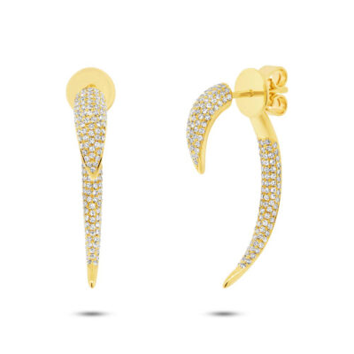 0.77ct 14k Yellow Gold Diamond Ear Jacket Earring SC55003575V3 400x400 - 0.77ct 14k Yellow Gold Diamond Ear Jacket Earring SC55003575V3
