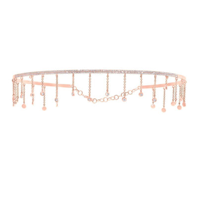 0.80ct 14k Rose Gold Diamond Choker Necklace SC55005517 400x400 - 0.80ct 14k Rose Gold Diamond Choker Necklace SC55005517