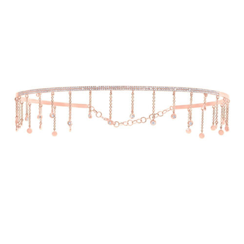 0.80ct 14k Rose Gold Diamond Choker Necklace SC55005517 500x500 - 0.80ct 14k Rose Gold Diamond Choker Necklace SC55005517