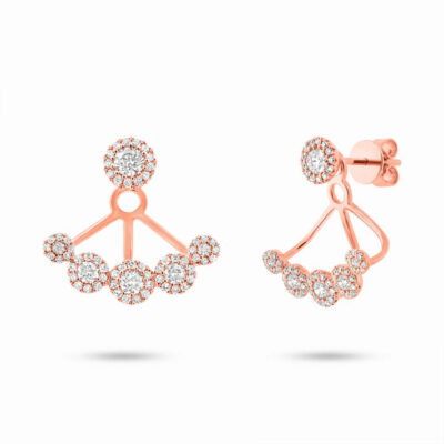 0.80ct 14k Rose Gold Diamond Earring Jacket with Studs SC55003079 400x400 - 0.80ct 14k Rose Gold Diamond Earring Jacket with Studs SC55003079