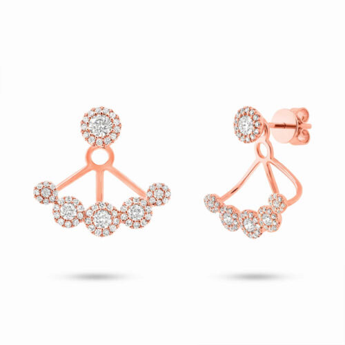 0.80ct 14k Rose Gold Diamond Earring Jacket with Studs SC55003079 500x500 - 0.80ct 14k Rose Gold Diamond Earring Jacket with Studs SC55003079