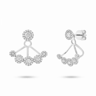 0.80ct 14k White Gold Diamond Earring Jacket with Studs SC55003077 400x400 - 0.80ct 14k White Gold Diamond Earring Jacket with Studs SC55003077