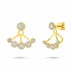 0.80ct 14k Yellow Gold Diamond Earring Jacket with Studs SC55003078 300x300 - 0.80ct 14k Yellow Gold Diamond Earring Jacket with Studs SC55003078