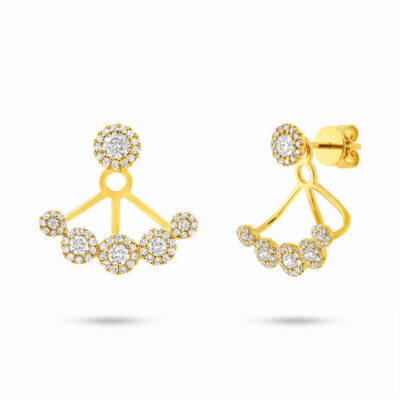 0.80ct 14k Yellow Gold Diamond Earring Jacket with Studs SC55003078 400x400 - 0.80ct 14k Yellow Gold Diamond Earring Jacket with Studs SC55003078