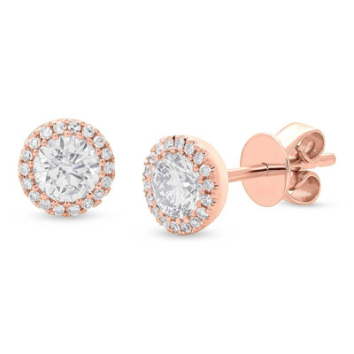 0.80ct Round Brilliant Center and 0.10ct Side 14k Rose Gold Diamond Stud Earring SC55005505 400x400 - 0.80ct Round Brilliant Center and 0.10ct Side 14k Rose Gold Diamond Stud Earring SC55005505