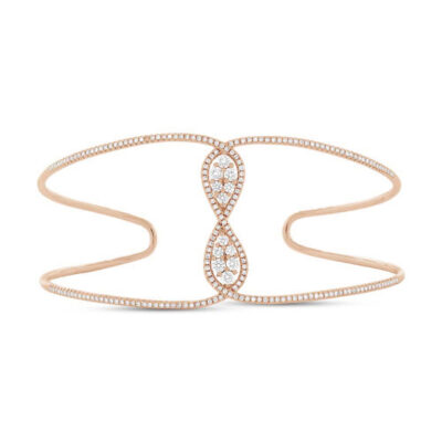 0.81ct 14k Rose Gold Diamond Bangle SC55004415ZS 400x400 - 0.81ct 14k Rose Gold Diamond Bangle SC55004415ZS