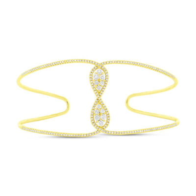0.81ct 14k Yellow Gold Diamond Bangle SC55004345ZS 400x400 - 0.81ct 14k Yellow Gold Diamond Bangle SC55004345ZS