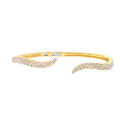 0.84ct 14k Yellow Gold Diamond Pave Bangle SC55002866ZXS 400x400 - 0.84ct 14k Yellow Gold Diamond Pave Bangle SC55002866ZXS