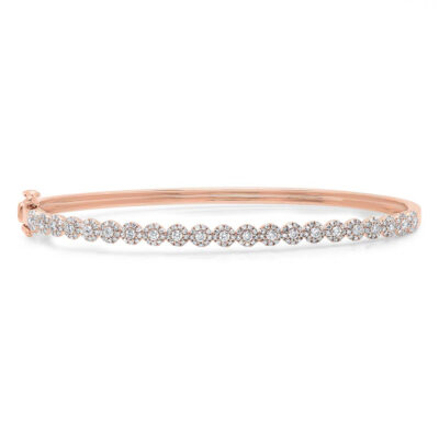 0.89ct 14k Rose Gold Diamond Bangle SC55004303ZS 400x400 - 0.89ct 14k Rose Gold Diamond Bangle SC55004303ZS