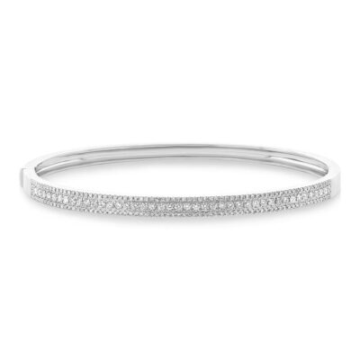 0.90ct 14k White Gold Diamond Bangle SC55004039ZS 400x400 - 0.90ct 14k White Gold Diamond Bangle SC55004039ZS