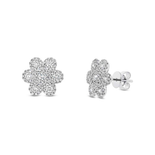 0.95ct 14k White Gold Diamond Flower Stud Earring SC55003100 500x500 - 0.95ct 14k White Gold Diamond Flower Stud Earring SC55003100