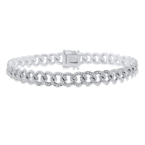 0.98ct 14k White Gold Diamond Pave Chain Bracelet SC55004678Z6.5 1 500x500 - 0.98ct 14k White Gold Diamond Pave Chain Bracelet SC55004678Z6.5