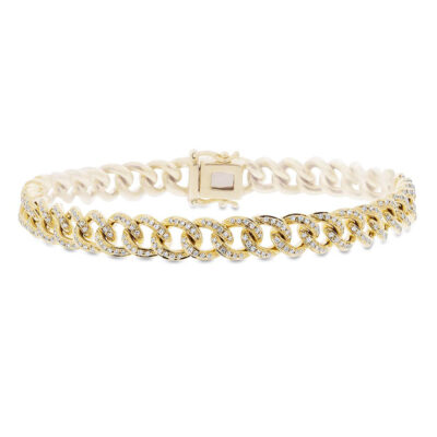 0.98ct 14k Yellow Gold Diamond Pave Chain Bracelet SC55004679Z6.5 400x400 - 0.98ct 14k Yellow Gold Diamond Pave Chain Bracelet SC55004679Z6.5