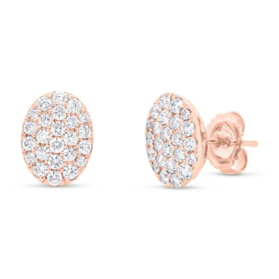 0.99ct 14k Rose Gold Diamond Pave Oval Earring SC22004749 400x400 - 0.99ct 14k Rose Gold Diamond Pave Oval Earring SC22004749