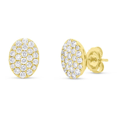 0.99ct 14k Yellow Gold Diamond Pave Oval Earring SC22004748 400x400 - 0.99ct 14k Yellow Gold Diamond Pave Oval Earring SC22004748
