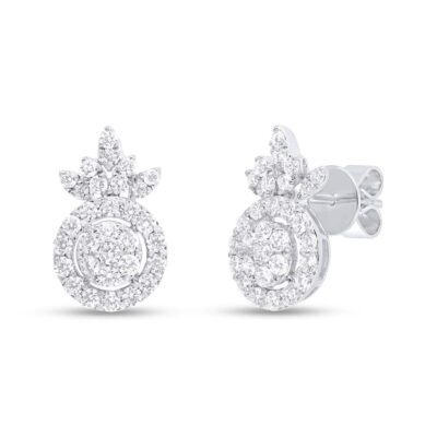 1.16ct 14k White Gold Diamond Stud Earring SC37215685 400x400 - 1.16ct 14k White Gold Diamond Stud Earring SC37215685