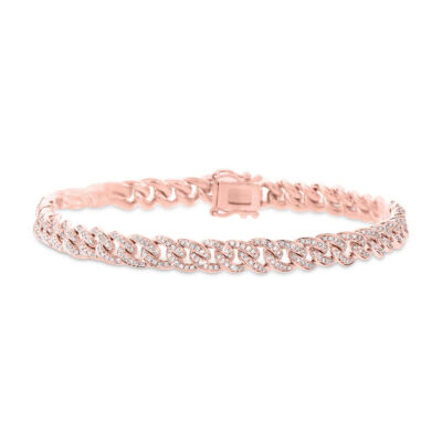 1.20ct 14k Rose Gold Diamond Pave Chain Bracelet SC55003822V3 400x400 - 1.20ct 14k Rose Gold Diamond Pave Chain Bracelet SC55003822V3