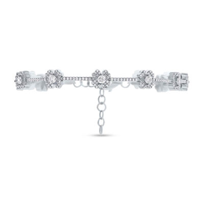 1.29ct 14k White Gold Diamond Clover Bracelet SC55005035 400x400 - 1.29ct 14k White Gold Diamond Clover Bracelet SC55005035