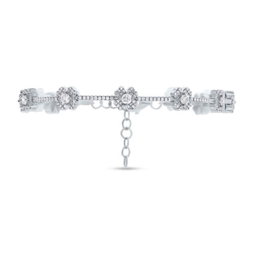 1.29ct 14k White Gold Diamond Clover Bracelet SC55005035 500x500 - 1.29ct 14k White Gold Diamond Clover Bracelet SC55005035