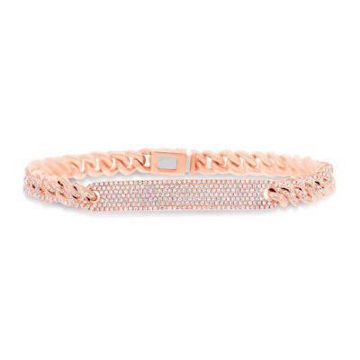 1.49ct 14k Rose Gold Diamond Pave Chain Bracelet SC55003513V5 400x400 - 1.49ct 14k Rose Gold Diamond Pave Chain Bracelet SC55003513V5