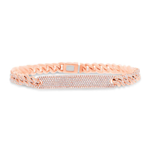 1.49ct 14k Rose Gold Diamond Pave Chain Bracelet SC55003513V5 500x500 - 1.49ct 14k Rose Gold Diamond Pave Chain Bracelet SC55003513V5