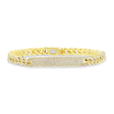 1.49ct 14k Yellow Gold Diamond Pave Chain Bracelet SC55003512V5 400x400 - 1.49ct 14k Yellow Gold Diamond Pave Chain Bracelet SC55003512V5