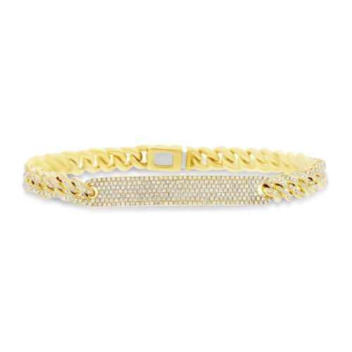 1.49ct 14k Yellow Gold Diamond Pave Chain Bracelet SC55003512V5 500x500 - 1.49ct 14k Yellow Gold Diamond Pave Chain Bracelet SC55003512V5