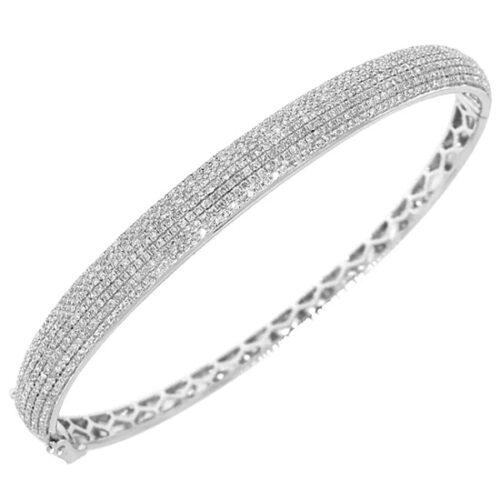1.54ct 14k White Gold Diamond Pave Bangle SC22002865 500x500 - 1.54ct 14k White Gold Diamond Pave Bangle SC22002865