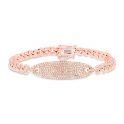 1.56ct 14k Rose Gold Diamond Pave Chain Bracelet SC55003513V3 400x400 - 1.56ct 14k Rose Gold Diamond Pave Chain Bracelet SC55003513V3