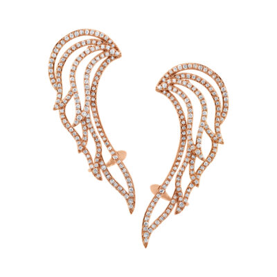 1.61ct 14k Rose Gold Diamond Ear Crawler Earring SC47003692 400x400 - 1.61ct 14k Rose Gold Diamond Ear Crawler Earring SC47003692
