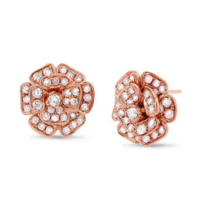 1.62ct 18k Rose Gold Diamond Flower Earring SC22003568V2 400x400 - 1.62ct 18k Rose Gold Diamond Flower Earring SC22003568V2